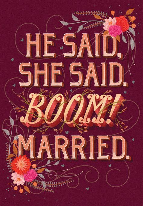 short  sweet  wedding congratulations card