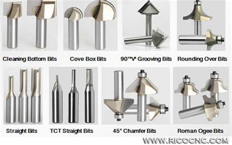 types wood router cutter bits  cnc carving