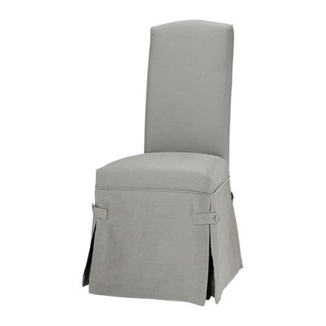 housse de chaise gris clair