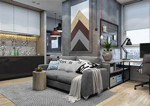Minimalist, Apartment, Design, Combined, With, Modern, Interior, Decor, Looks, Trendy, And, Awesome