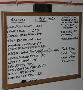 Weight Lifting Percentage Chart One Rep Max Calculator