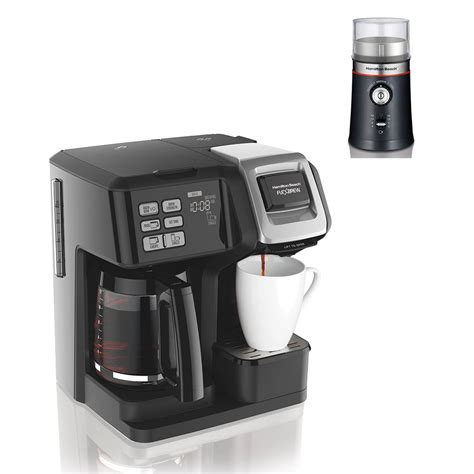 A burr grinder coffee maker that amazingly combines standard drip machine and a burr grinder in one simple device. Hamilton Beach FlexBrew Pot Coffee Maker w/ Electric Coffee Bean Grinder - Walmart.com