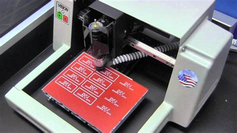 Express Small Engraving Machine Plastic Valve Tags - YouTube