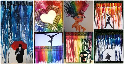 11 Inspired Ways To Create Melted Crayon Art Design