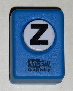 mcgill craftivity paper punch letter z upper case capital With letter m paper punch
