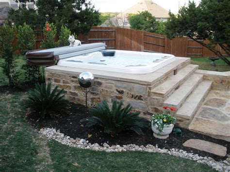 inground tub ideas wooden hot tub deck idea instead of in ground for the home pinterest hot tubs hot tub