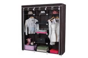 songmics 59 quot portable clothes closet wardrobe shoes