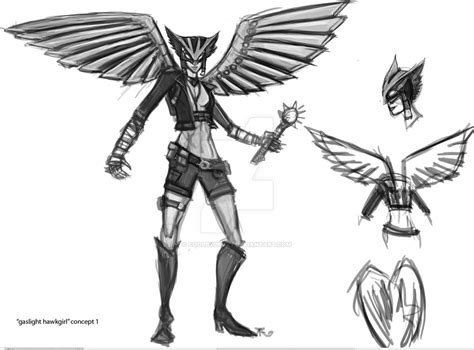 Gaslight Hawkgirl Concept By Coolbyproxy On Deviantart