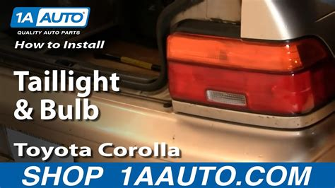 install replace taillight  bulb toyota corolla