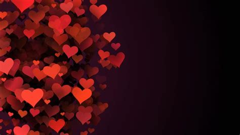 Stock Video Clip Of Red Hearts, Abstract Background