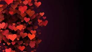 Red Hearts, Abstract Background, Valentine Stock Footage ...