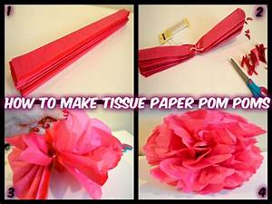How to Make Tissue Paper Pom Poms - Fun and Easy Party