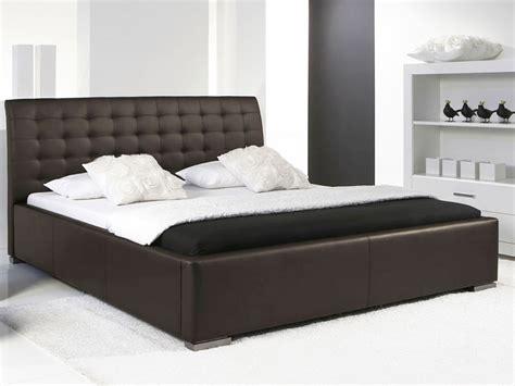poubelles cuisine originales lit design marron avec tete de lit matelassee izac 160x200 cm