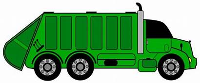 Garbage Truck Clipart Clip Trash Drawing Vector