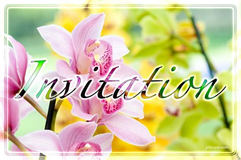 cartes virtuelles invitation fleur joliecarte