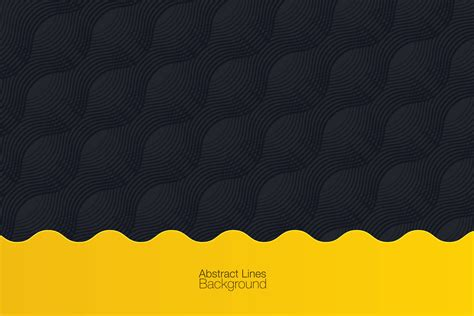 Abstract Black Yellow by Black Yellow Abstract Background Graphic Objects