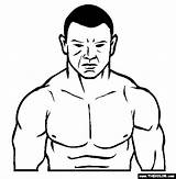 Coloring Ufc Martial Arts Printable Fighter Mma Uploaded sketch template