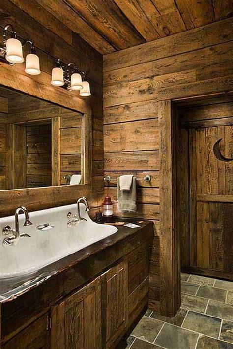 log home bathroom ideas rustic bathrooms the owner builder network