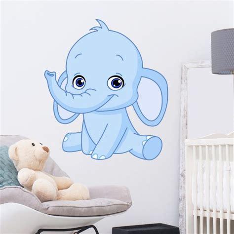 muursticker babykamer olifant babykamer kinderkamer muurstickers altijd gratis