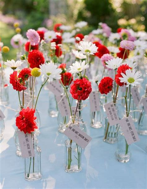 15 wedding name place card holders flower favors rustic wedding place cards wedding flower guest favors table name dahlias daisies and craspedias oh my an affordable