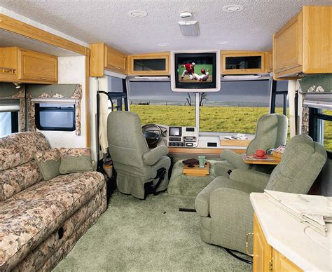 motor home interiors interior picture of the front of a luxury class a motorhome monty s rv cing pictures
