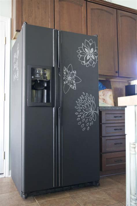 chalkboard paint refrigerator pure lovely