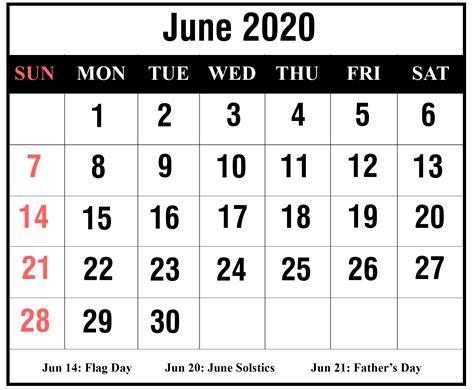 printable june  blank calendar  excel word