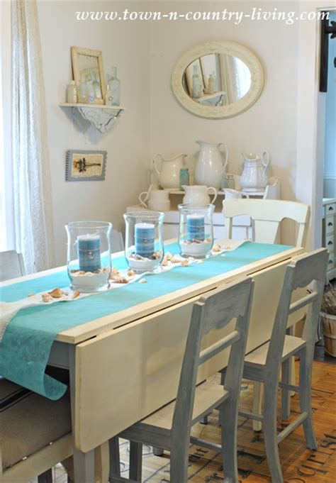 Coastal Kitchen Ideas - how to create a summer coastal centerpiece town country living