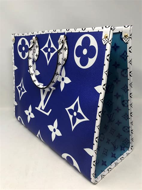 louis vuitton blue giant monogram    santa monica  stdibs