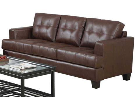 Sam Leather Sofa by Home Furniture Samuel Brown Bonded Leather Sofa