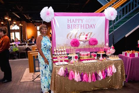 glamorous pink gold 40th birthday party via karas party