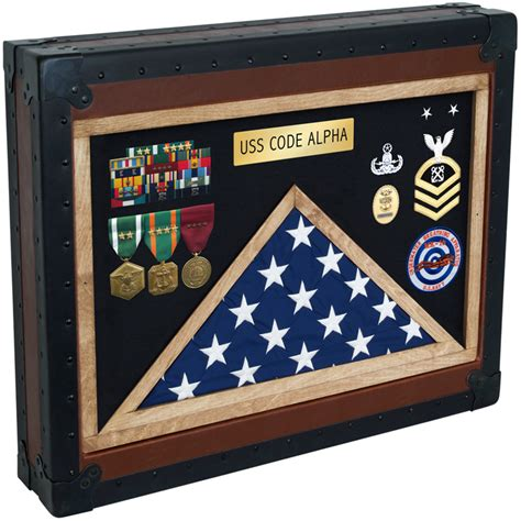 Military Retirement Shadow Box In Memo And Bulletin Boards
