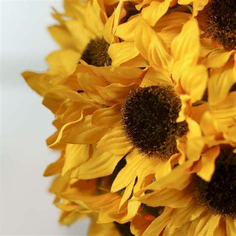 artificial sunflower kissing ball fall florals fall