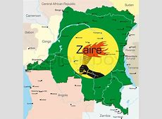 Abstract vector color map of Zaire country colored by