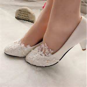shoes for bridesmaids lace white ivory wedding shoes bridal flats low high heel size 5 12 ebay
