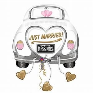 5 x Just Married Wedding Car SuperShape Foil Balloon XL ...