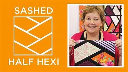 Quilt Half Hexi Sashed Missouri Jenny Doan