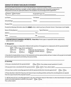 Download conflict of interest disclosure statement template free conflict of interest policy template 9 statement of interest samples sample templates maxwellsz