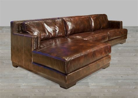 chaise a brown leather sectional sofa with chaise lounge