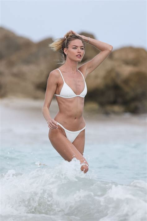 martha hunt  white bikini  miami beach