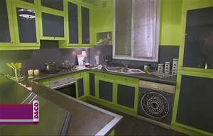deco cuisine vert anis et gris With cuisine gris et vert