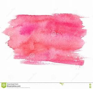 Tache De Couleur Peinture Fond Blanc : tache rose d 39 aquarelle d 39 isolement sur le fond blanc texture artistique de peinture photo stock ~ Melissatoandfro.com Idées de Décoration