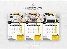 2019 Calendar PSD Mockup Download for Free DesignHooks