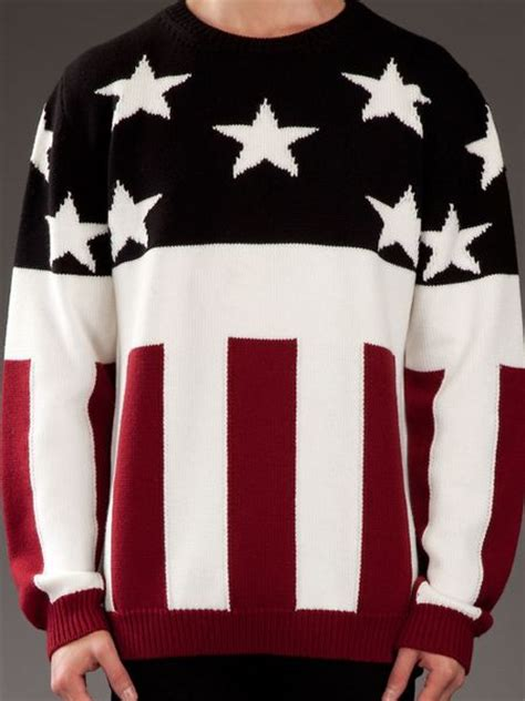 dead meat stars  stripes sweater  multicolor  men