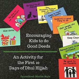 Ramadan Good Deeds Chart Activity For Kids In Dhul Hijjah Encouraging Good Deeds