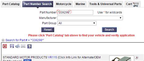 part number search tab taurus car club  america ford