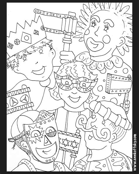 purim coloring pages purim coloring page