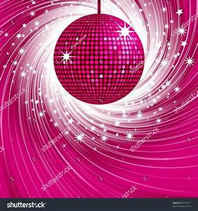 Sparkling Pink Disco Ball On Abstract Stock Vector ...