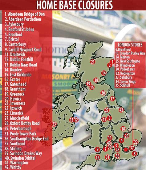 map reveals  homebase stores set  close   ditch