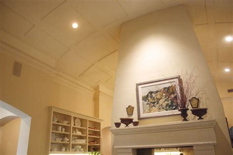 curved ceiling  fireplace oncken sons cabinet shop